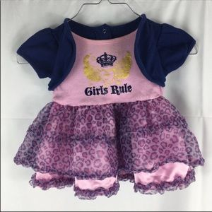 Girls Rule Infant Cheetah Print Dress